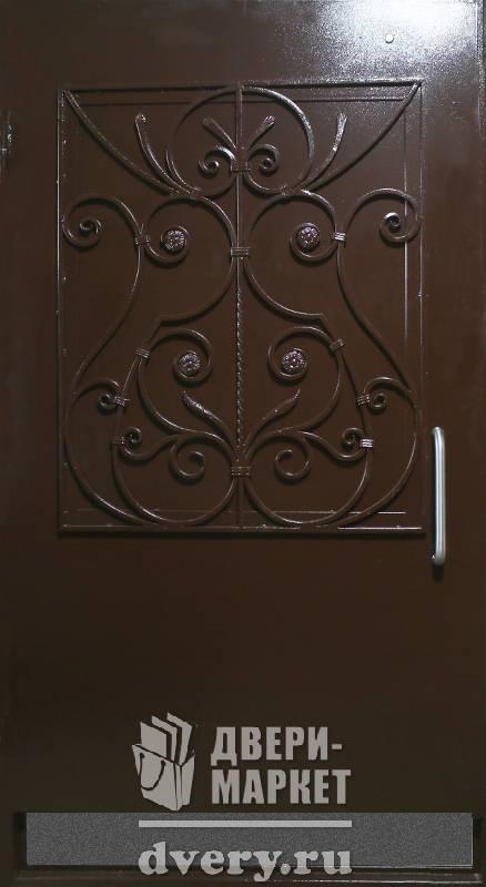 наружные кованные металлические двери