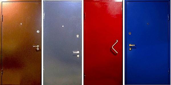 железная дверь с напылением