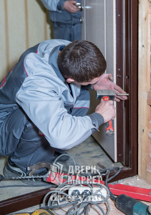 установка монтаж цены металлических дверей