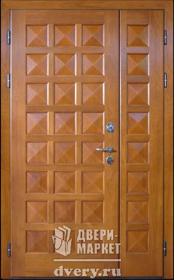 двери металлические шпонированные двухстворчатые
